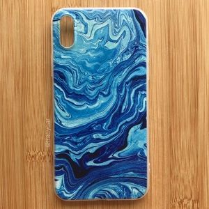 Accessories - NEW Iphone X Blue Swirly Case